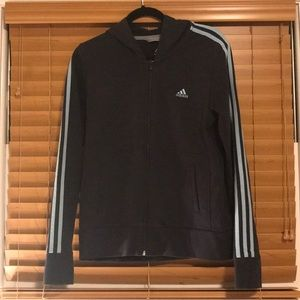 Adidas size Large Dark Navy Jacket with hood.